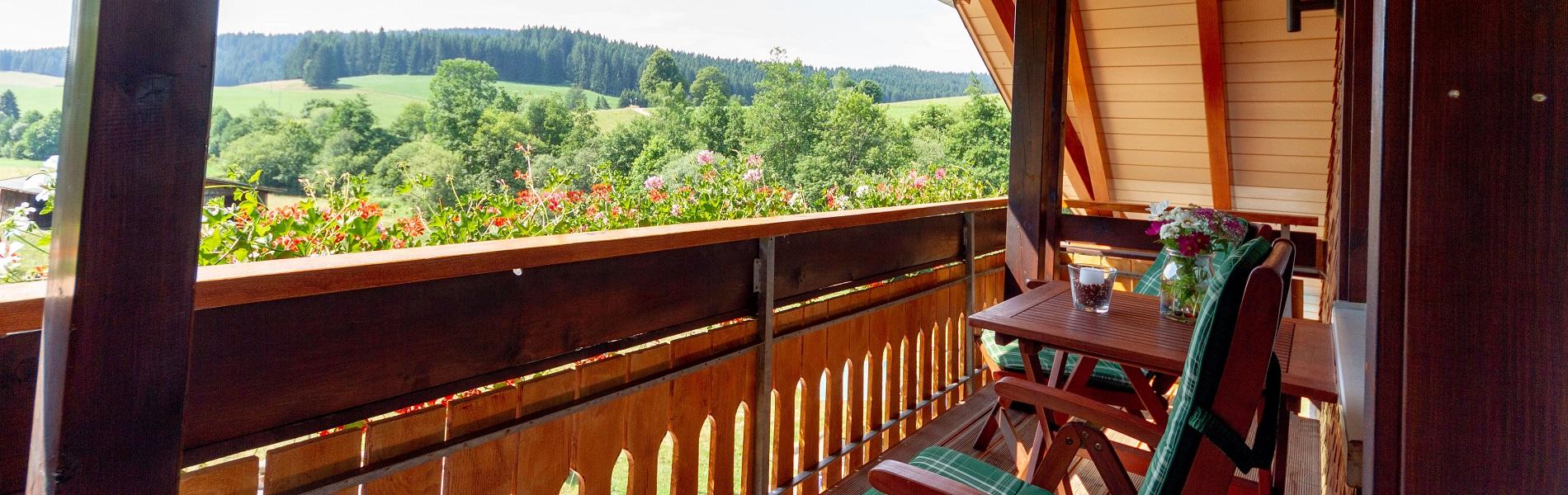 Slider - Kamille - Blick vom Balkon