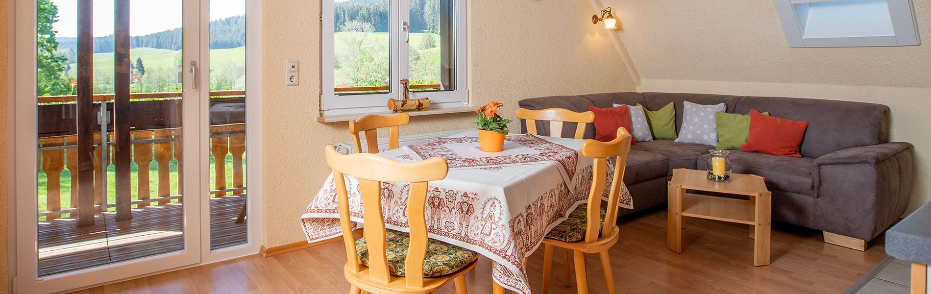 Ferienwohnung Kamille - Wohnküche Josenmuehle2020_Slider